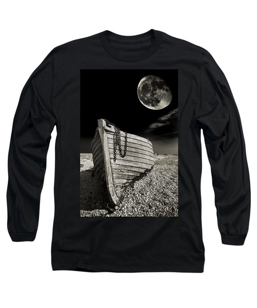 Fishing Boat Graveyard 3 Long Sleeve T-Shirt by Meirion Matthias