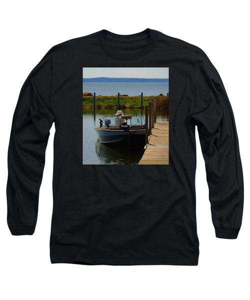 Long Sleeve T-Shirt featuring the photograph Fishing Boat by Ramona Whiteaker