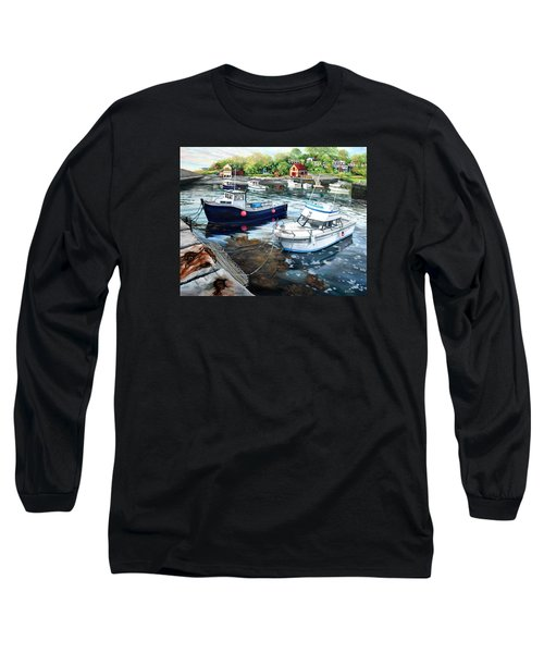 Fishing Boats In Lanes Cove Gloucester Ma Long Sleeve T-Shirt