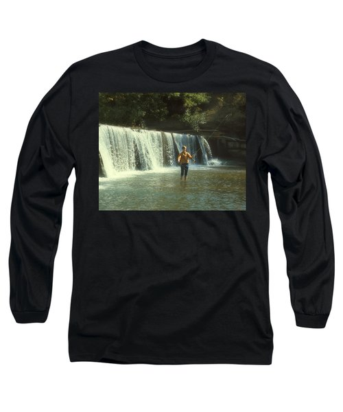 Fishing For Smallies Long Sleeve T-Shirt by Garry McMichael