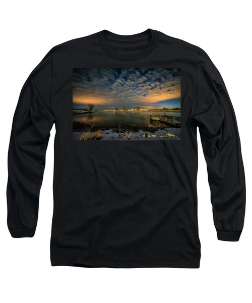 Fishing Hole At Night Long Sleeve T-Shirt