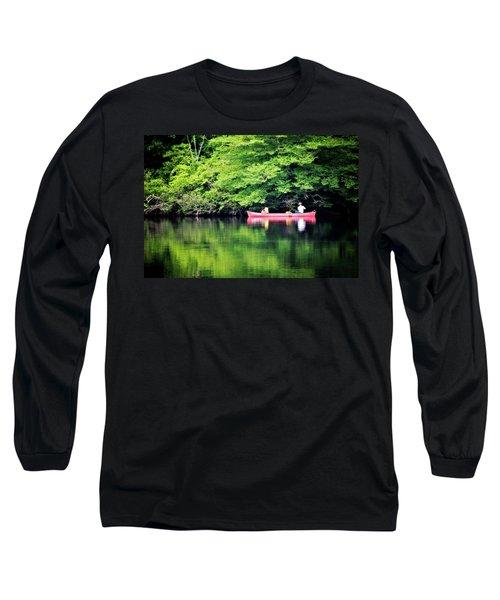 Fishing On Shady Long Sleeve T-Shirt