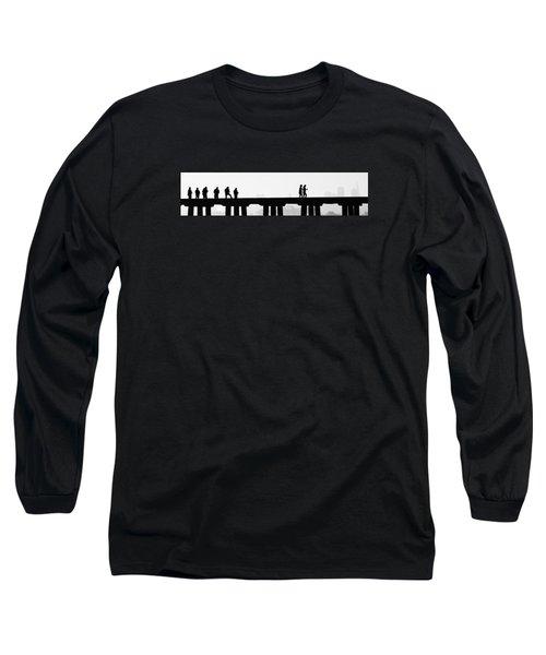 Fishing The San Francisco Skyline Long Sleeve T-Shirt