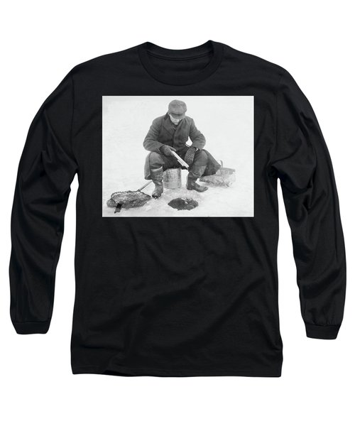 Fishing Through Ice Long Sleeve T-Shirt