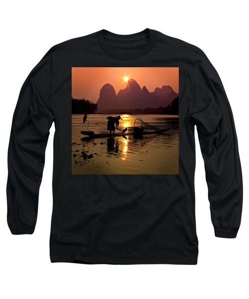 Fishing With Cormorants Long Sleeve T-Shirt