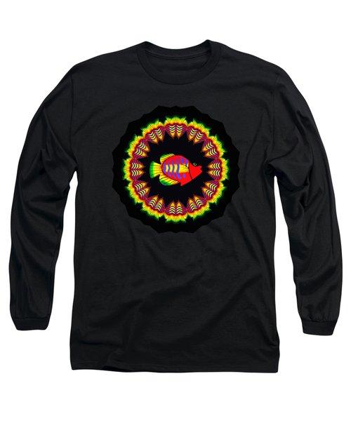 Fishy Colorful Kaleidoscope By Kaye Menner Long Sleeve T-Shirt by Kaye Menner