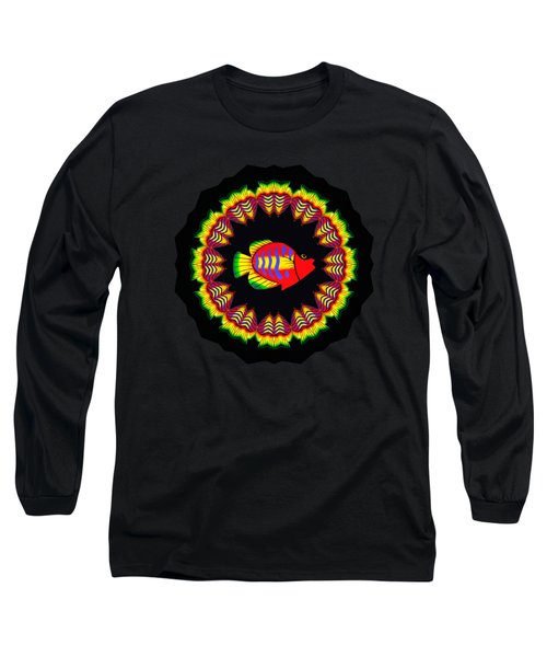 Fishy Colorful Kaleidoscope By Kaye Menner Long Sleeve T-Shirt