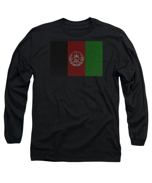 Long Sleeve T-Shirt featuring the digital art Flag Of Afghanistan by Jeff Iverson