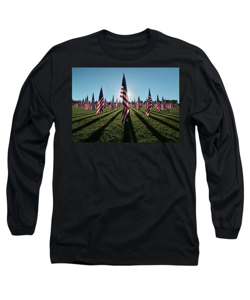 Flags Of Valor - 2016 Long Sleeve T-Shirt by Rau Imaging