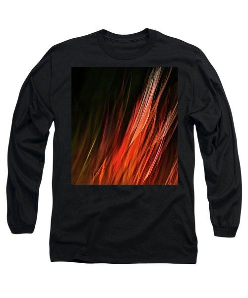 Flame Grass  Long Sleeve T-Shirt