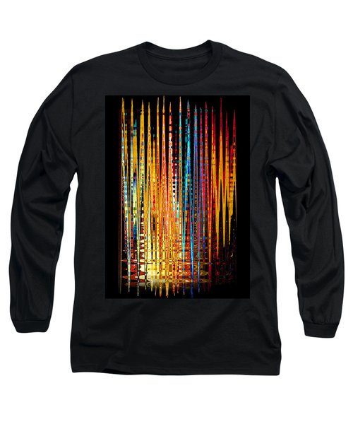 Flame Lines Long Sleeve T-Shirt by Francesa Miller