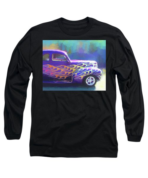 Flamed 1940 Ford Long Sleeve T-Shirt