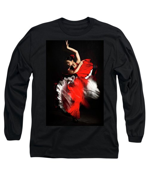Flamenco Dancer - 01 Long Sleeve T-Shirt