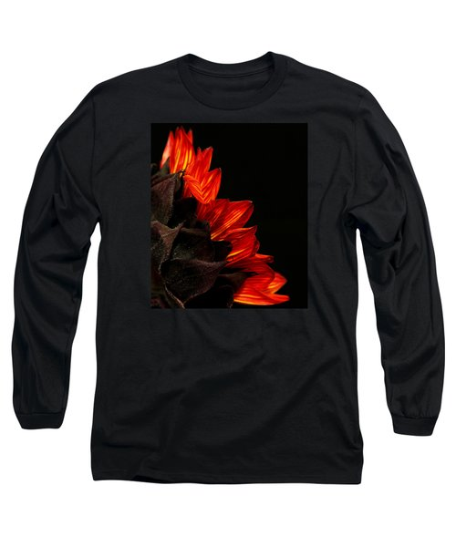 Long Sleeve T-Shirt featuring the photograph Flames by Judy Vincent