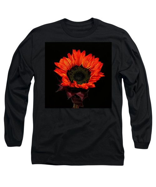 Long Sleeve T-Shirt featuring the photograph Flaming Flower by Judy Vincent