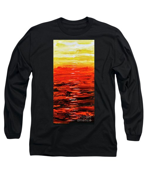 Flaming Sunset Abstract 205173 Long Sleeve T-Shirt