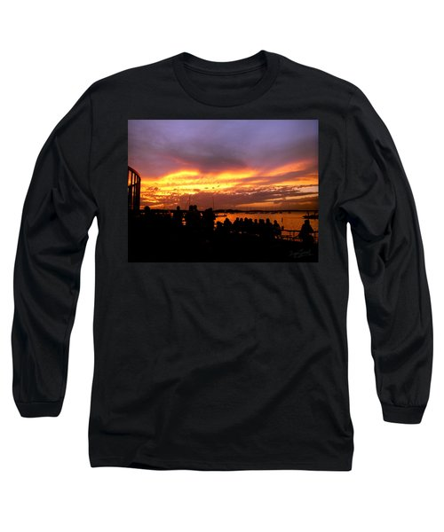Flaming Sunset Long Sleeve T-Shirt