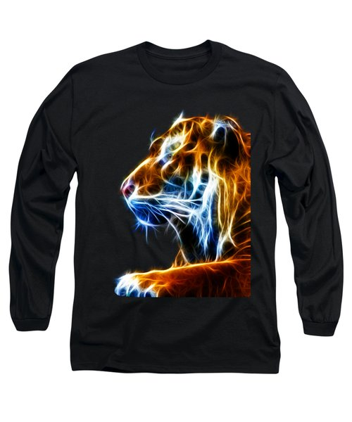 Flaming Tiger Long Sleeve T-Shirt