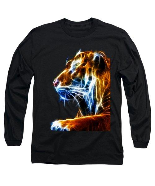 Flaming Tiger Long Sleeve T-Shirt