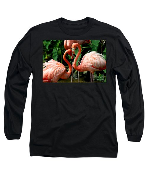 Flamingo Heart Long Sleeve T-Shirt