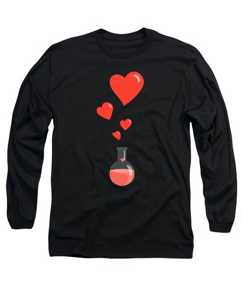 Flask Of Hearts Long Sleeve T-Shirt