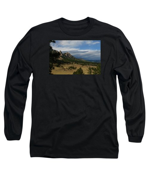 Flatirons, Boulder, Colorado Long Sleeve T-Shirt by Christopher Kirby