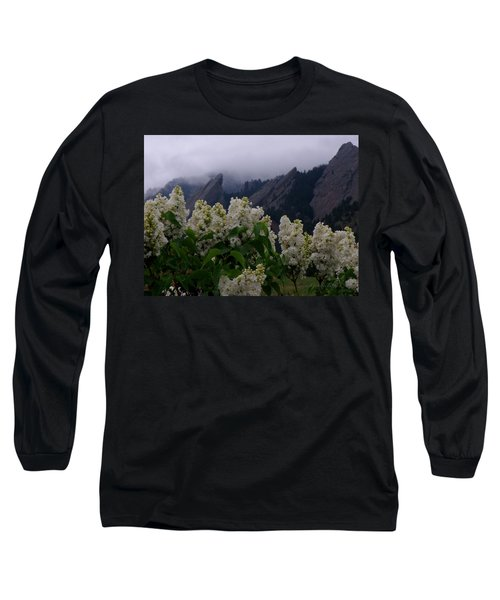 Flatirons White Lilacs Long Sleeve T-Shirt