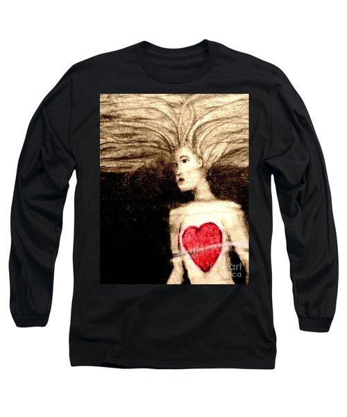 Floating Heart Long Sleeve T-Shirt