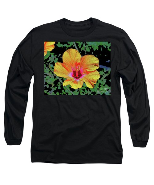 Floating Hibiscus Long Sleeve T-Shirt