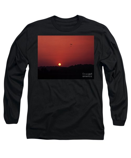 Floating In Space Long Sleeve T-Shirt by Thomas Bomstad