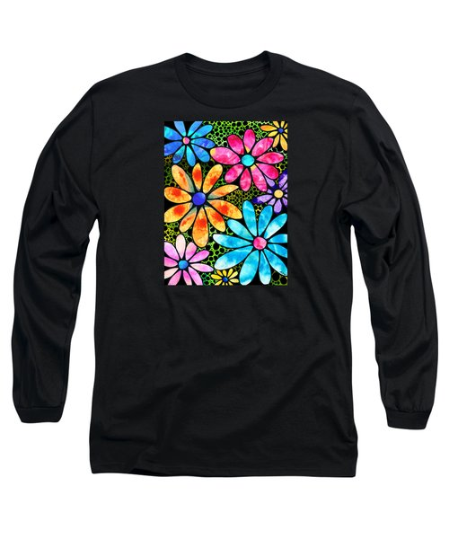 Floral Art - Big Flower Love - Sharon Cummings Long Sleeve T-Shirt by Sharon Cummings