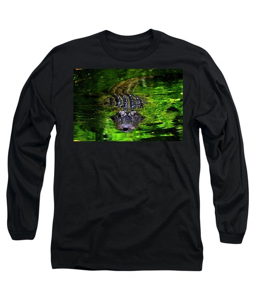 Florida Alligator Encounter Long Sleeve T-Shirt