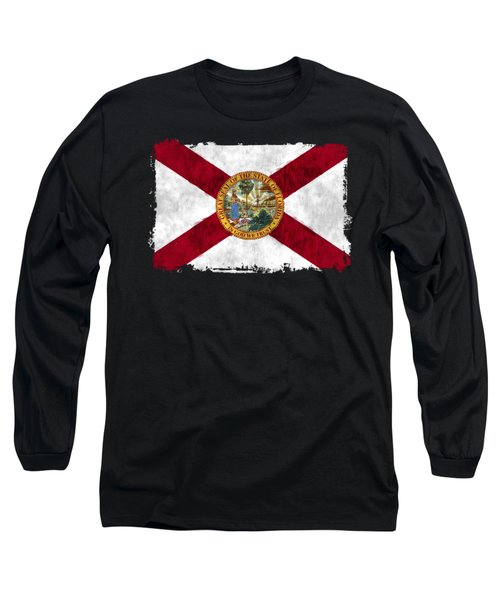 Florida Flag Long Sleeve T-Shirt by World Art Prints And Designs