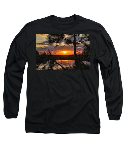 Florida Pine Sunset Long Sleeve T-Shirt