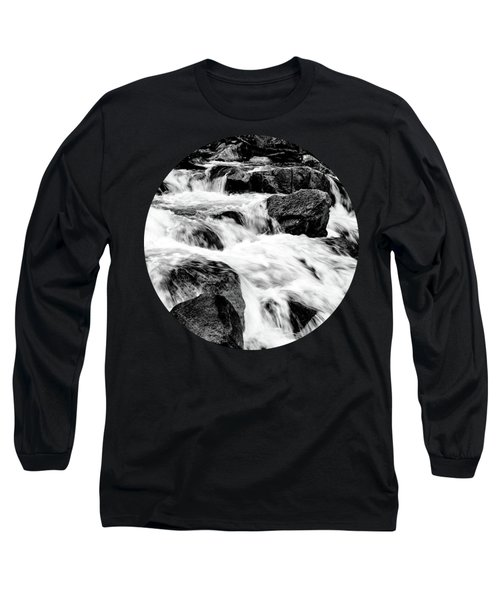 Flow, Black And White Long Sleeve T-Shirt