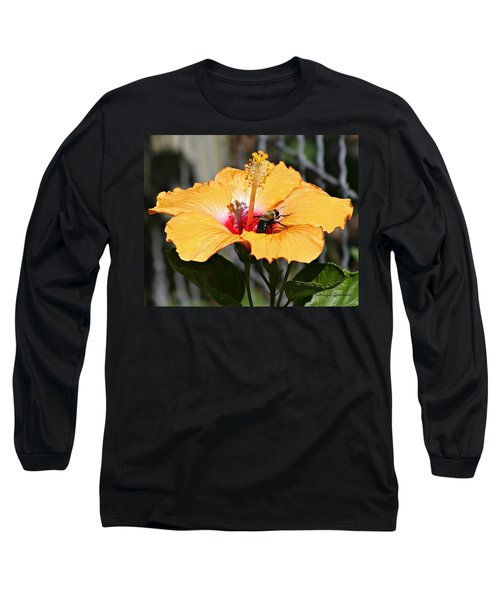 Flower Bee Long Sleeve T-Shirt