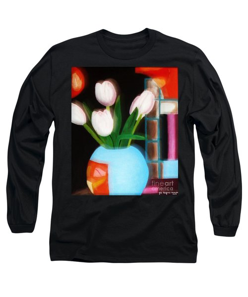 Flower Decor Long Sleeve T-Shirt
