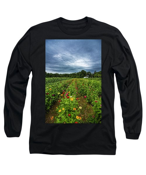 Flower Field At North Sea Farms Long Sleeve T-Shirt