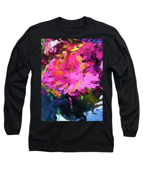 Flower Lolly Pink Yellow Long Sleeve T-Shirt