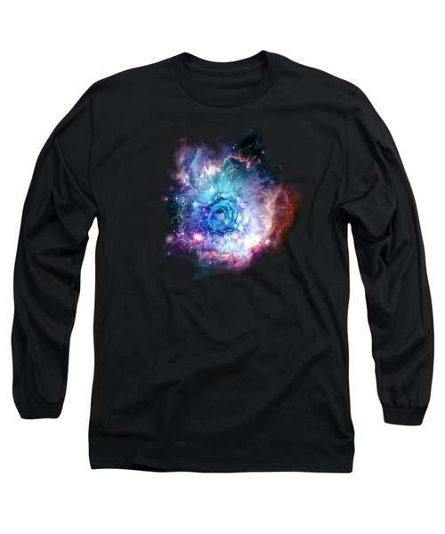 Flower Nebula Long Sleeve T-Shirt by Anastasiya Malakhova