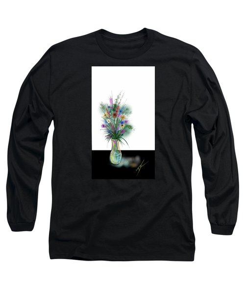 Flower Study One Long Sleeve T-Shirt by Darren Cannell