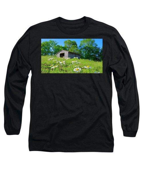 Flowering Hillside Meadow Long Sleeve T-Shirt