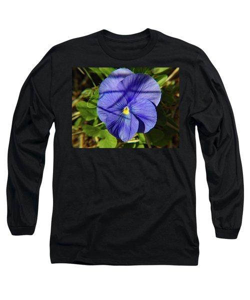 Flowering Pansy Long Sleeve T-Shirt