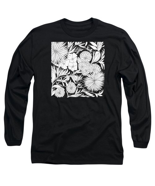 Long Sleeve T-Shirt featuring the painting Flowers 3 by Lou Belcher
