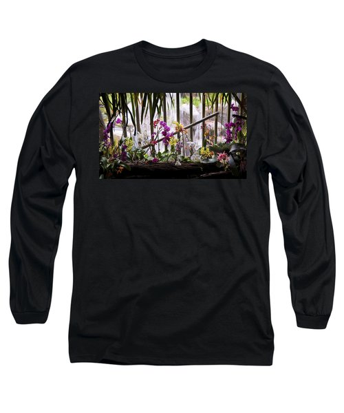 Flowers And Waterfall Long Sleeve T-Shirt