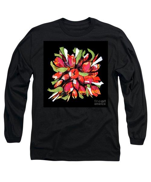 Flowers, Art Collage Long Sleeve T-Shirt