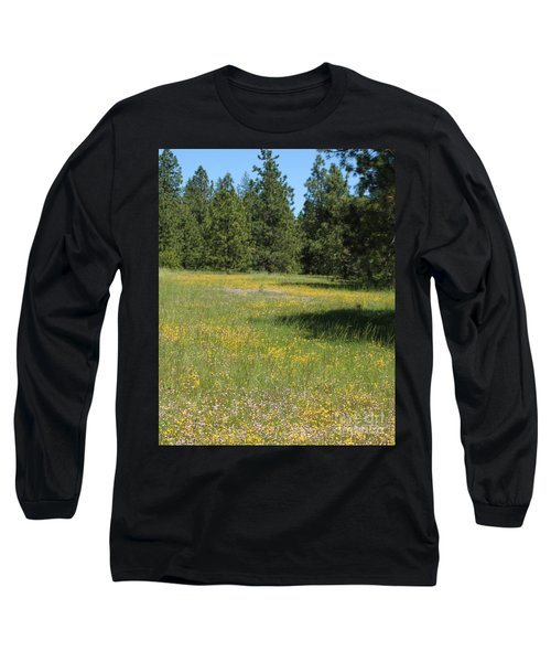 Flowers At Fish Hatchery Long Sleeve T-Shirt