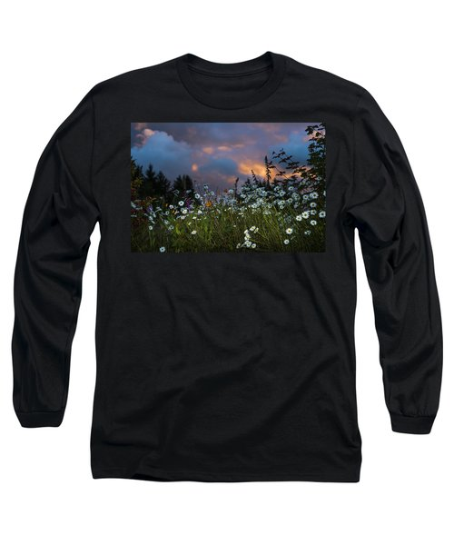Flowers At Sunset Long Sleeve T-Shirt