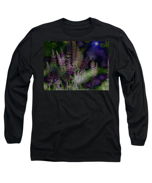 Flowers By Moonlight Long Sleeve T-Shirt