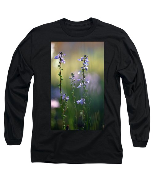 Flowers By The Pond Long Sleeve T-Shirt